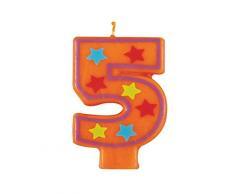 Unique Party - 37555 - Bougie Décorative dAnniversaire Numéro 5