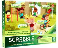 Jeux Mattel Scrabble ApprendAnglais Jeux de Table Multicolore (GGB31)