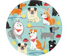 Assiettes à dessert pour chien - 8 pièces
