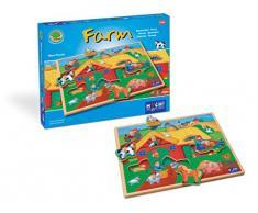 Huch & Friends 878038 Maxi Puzzle Farm, Autre bébé Jouet
