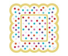 amscan 436002 Rainbow Buffet festonné plaques