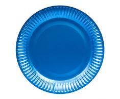 Folat Assiettes Jetables Couleur Mate Azur Bleu, 65882