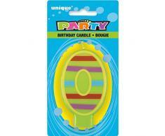 Unique Party - 37550 - Bougie Décorative dAnniversaire Numéro 0