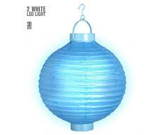 Widmann Lampion à LED 30 cm - Turquoise - Taille Unique