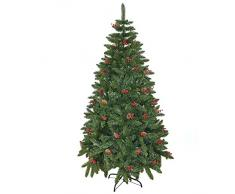 Gifts 4 All Occasions Limited SHATCHI-729 Sapin de Noël artificiel avec décoration de Noël Vert 240 cm 2,4 m