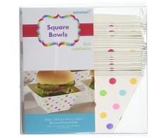Amscan 147002 Rainbow Buffet Papier carré Bols