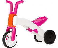 Chillafish Bunzi : Porteur bebe convertible en draisienne, trotteur évolutif 2 en 1 avec siège ajustable pour enfants de 1 à 3 ans, roues silencieuses pour jouer à l'intérieur et l'extérieur, rose