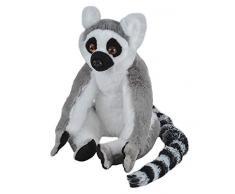 Wild Republic Republic-10948 Peluche Lemur Catta Cuddlekins, Jouets, 30cm, 10948, Noir-Blanc