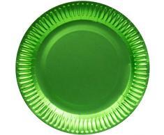 Folat Assiettes Jetables Couleur Mate Vert Lime, 65881