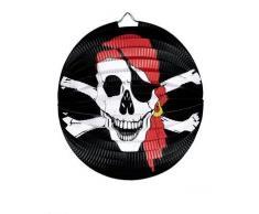 Widmann Pirate Tête de mort et os de croix Lampion Ø 25 cm pour accessoire Déguisement