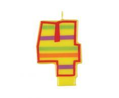 Unique Party - 37554 - Bougie Décorative dAnniversaire Numéro 4