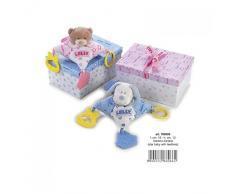 Lelly 19 x 13 cm Star pour bébé avec Jouets de Dentition Jouet en Peluche (Marron)