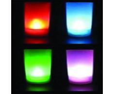 Mondial-Fete - Bougie à LEDs Multicolore