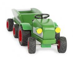 Small Foot- Woodfriends Tracteur, en Bois certifié FSC 100%, remorque avec Roues en Caoutchouc,pour Les Enfants à partir de 3 Ans Jouets, 11006, Multicolore