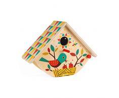 Janod-Mon Premier Nichoir Happy Garden (Bois), J03195, Multicolore