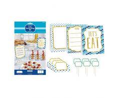 Amscan 281001 Bleu kit de décoration pour Buffet