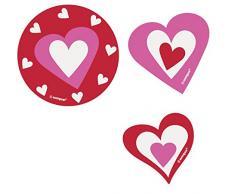 Unique Party Confettis Papier Coeur Découpe Saint Valentin décorations, Lot de 24