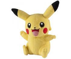 Peluche Pokémon : Pikachu assis qui salue
