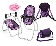 Bayer Design - 63694AB - Vario Set 9 En 1 - Chaise Haute Pourpre