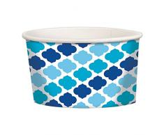amscan 434002 Bleu Buffet Treat Tasses