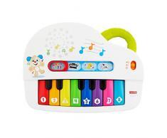 Fisher-Price GFK01 – Premier Clavier pour bébé, Piano Jouet éducatif avec chansons, Sons et Phrases à partir de 6 Mois, Langue Allemande