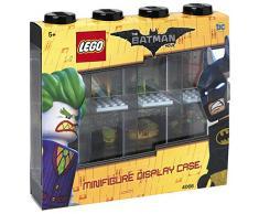 LEGO - Vitrine de Présentation Batman pour 8 Mini-Personnages, Conteneur Empilable contre Un Mur Ou sur Un Bureau, Noir