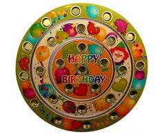 Hess Jouet en Bois 15643 - Anneau danniversaire Happy Birthday en Bois pour Bougies de 26 Env. 22 cm
