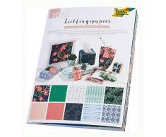 Folia 37001 Papier Peint imprimé dune Seule Face 80 g/m² 10 Motifs différents 50 x 70 cm, Multicolore