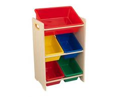 KidKraft Kids storage, Panneau MDF, Multicolore, 43x30x72 cm