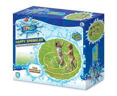 Xtrem Toys 00326 Amusant Happy Sprinter Jeux éclaboussures pour Enfants à partir de 6 Ans Idéal pour Le Jardin, lété, il Suffit de Le Brancher sur Le Tuyau darrosage Multicolore