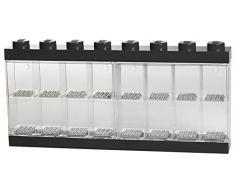 Vitrine de présentation des mini-personnages LEGO pour 16 mini-personnages, conteneur empilable contre un mur ou sur un bureau, noir