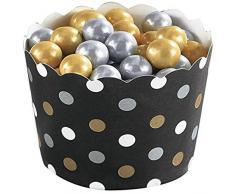 amscan 143013 Noir Buffet Mini festonné Tasses