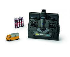 Carson 500504123 – 1:87 VW T1 Bus Allemand 2,4 G 100 % RTR, modèle de Conduite à Distance 2,4 GHz avec Port de Chargement, 4 Piles AAA avec éclairage LED, Instructions (français Non Garanti).