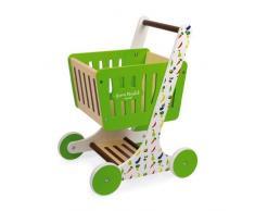 Janod- Chariot de Courses Green Market (Bois), J06579, Vert