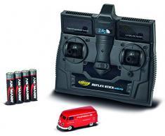 Carson 500504124 – 1:87 VW T1 Bus Porsche 2.4G RTR, modèle de Conduite à Distance 2,4 GHz avec Port de Charge, avec 4 Piles AAA pour émetteur LED, Mode demploi
