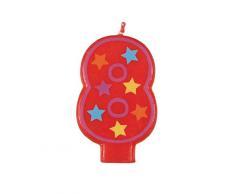 Unique Party - 37558 - Bougie Décorative dAnniversaire Numéro 8