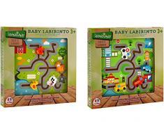 Globo Jouets 37438 25 x 25 x 2,5 cm 2 Assortis legnoland Labyrinthe Puzzle en Bois