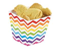 amscan 146002 Rainbow Buffet Mini Papier Treat Tasses