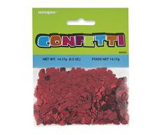 Unique Party - 90352 - Confettis Rouges en Forme de Cœur