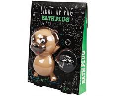 Pug Light Up Bath Plug Carlin éclairage de Bouchon de Baignoire