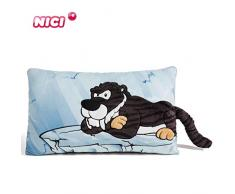 NICI- Coussin rectangulaire Tigre à Dents de Sabre 43x25cm, 45318