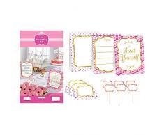 Amscan 281000 Rose Buffet kit de décoration pour