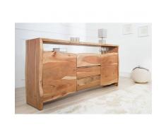 Nilmex Enfilade moderne en bois d'acacia coloris naturel