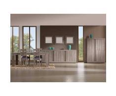 Nilmex Bar avec salle à manger complète avec bahut coloris chêne grisé