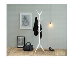 Nilmex Porte-manteau design arbre en bois coloris blanc laqué