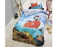 Nilmex Housse de couette réversible pour lit enfant en coton