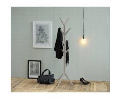 Nilmex Porte manteau design arbre en bois coloris gris