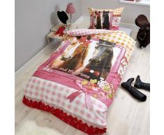 Nilmex Housse de couette en coton pour lit enfant