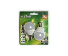 Ampoule LED Nityam MINI GLOBE DEPOLIE E14 6W (X2)