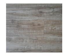 Lames PVC clipsables - Imitation parquet bois rustique gris (= 2,42 m)